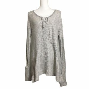 Knox Rose knit gray tunic sweater. Sz Medium